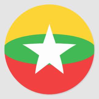 Myanmar Fisheye Flag Sticker