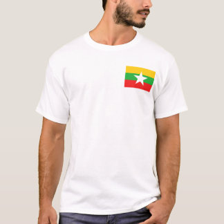 Myanmar Flag and Map T-Shirt