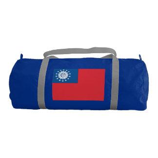 Myanmar Flag Gym Duffel Bag
