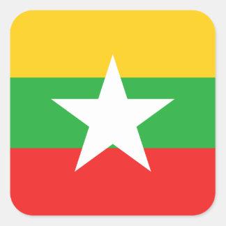 Myanmar Flag Sticker