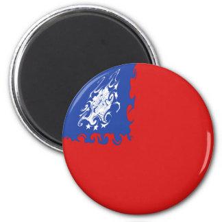 Myanmar Gnarly Flag 6 Cm Round Magnet