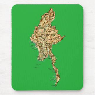 Myanmar Map Mousepad