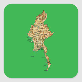 Myanmar Map Sticker