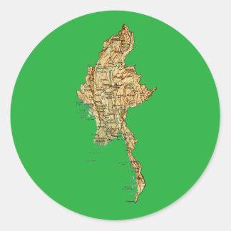 Myanmar Map Sticker