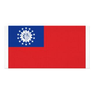 Myanmar National Flag Photo Greeting Card