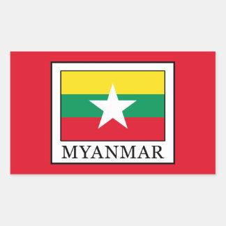 Myanmar Rectangular Sticker