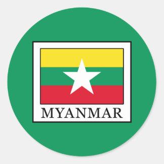 Myanmar Round Sticker