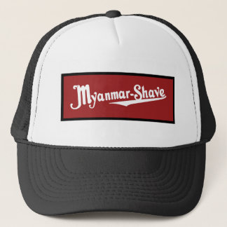 Myanmar-Shave - updated Burma-Shave Trucker Hat