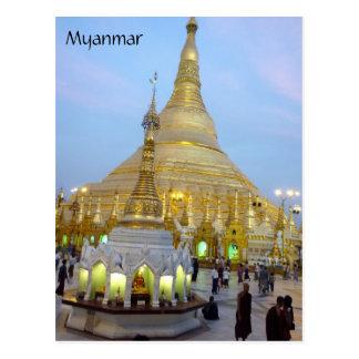 myanmar shwedagon postcard