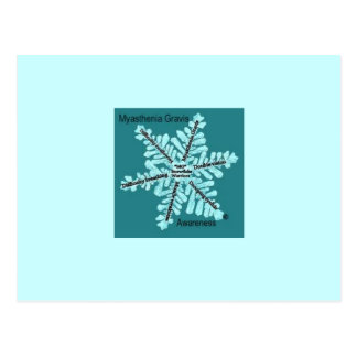 Myasthenia Gravis Awareness Teal MG Logo Postcard