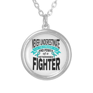 Myasthenia Gravis Determined Fighter Round Pendant Necklace