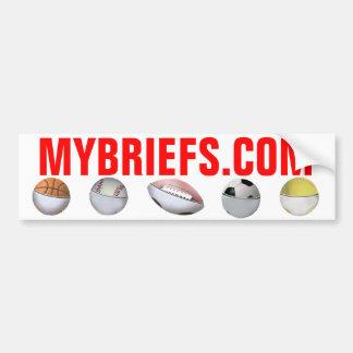 MyBriefs Balls Bumper Sticker