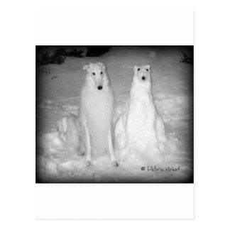 Mychtar and His Snowdog ! :) Postcard