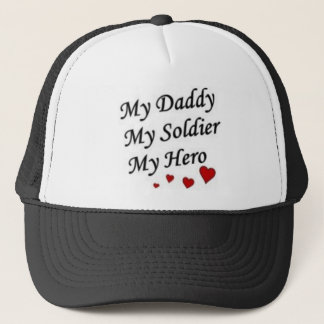 mydaddymysoldiermyhero trucker hat