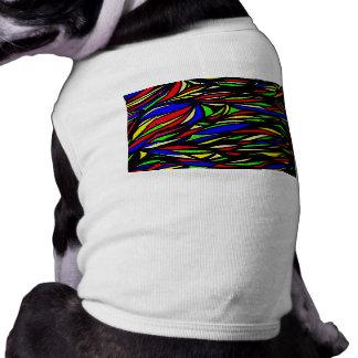 mydigitalcolourful seaweed painting sleeveless dog shirt