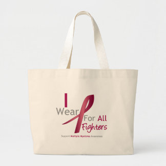 Myeloma - I Wear Burgundy For The Fighters Jumbo Tote Bag