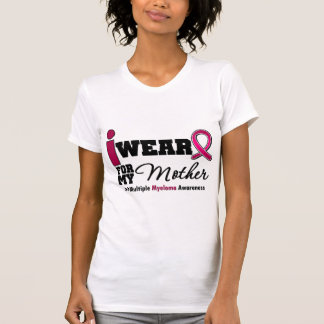 Myeloma I Wear Burgundy Ribbon Mother Tee Shirts