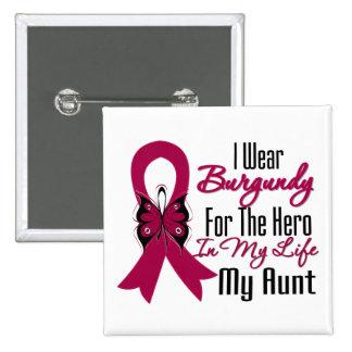 Myeloma Ribbon Hero My Aunt 15 Cm Square Badge