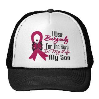 Myeloma Ribbon Hero My Son Cap