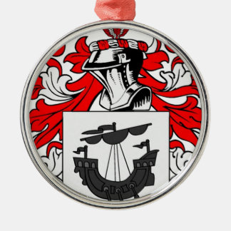 Myers Coat of Arms Silver-Colored Round Decoration