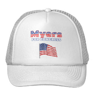 Myers for Congress Patriotic American Flag Hat