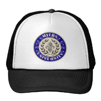 Myers University Round Trucker Hat