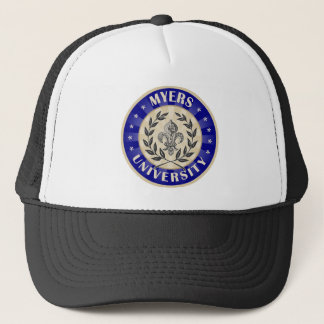 Myers University Round Trucker Hat