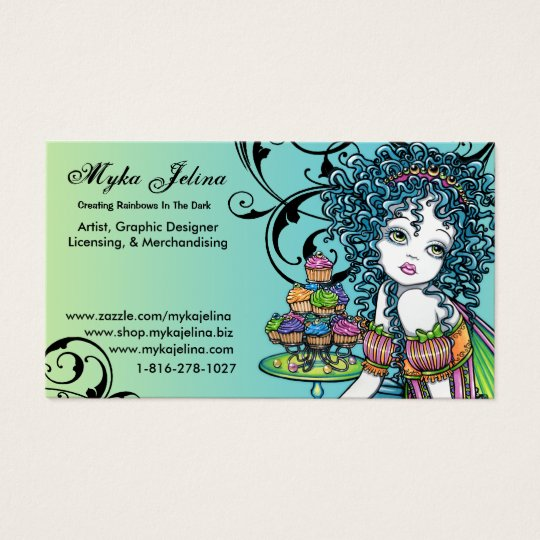 Myka Jelina Art Buisness Card