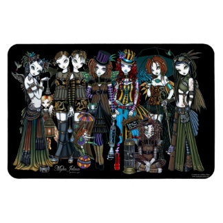 Myka Jelina Art Steampunk Tribal Fairies Magnet