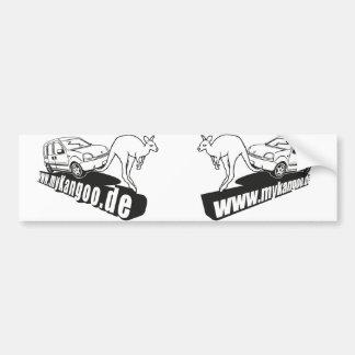 myKangoo.de stickers Links&Rechts Bumper Sticker