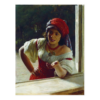Mykola Yaroshenko- Gypsy Woman Postcard