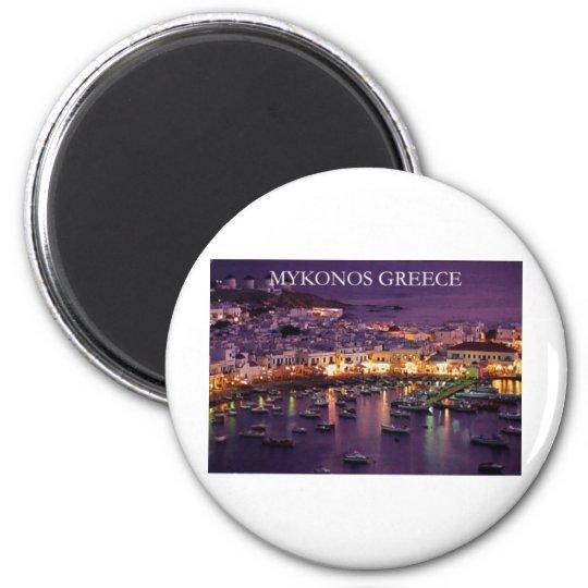 mykonos 6 cm round magnet