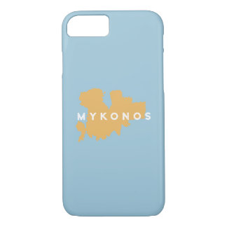 Mykonos Greece Island Silhouette iPhone 7 Case