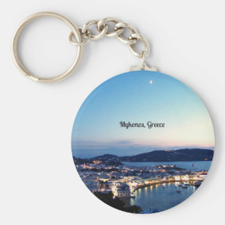 Mykonos, Greece panorama Key Ring
