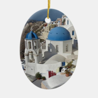 Mykonos Greece Travel Christmas Ornament