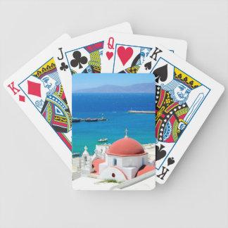 Mykonos Greek Island Hilltop Poker Deck