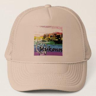MYKONOS ISLAND TRUCKER HAT