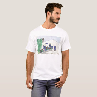 Mykonos Laki Square view on a t-shirt