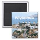 Mykonos Seaside Greece Souvenir Fridge Magnet