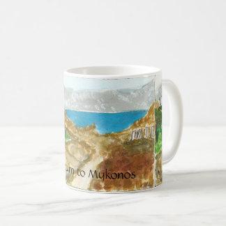 Mykonos View from Delos Near Sacred Lake mug