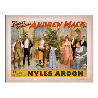 Myles Aroon Andrew Mack I m Your s till Death Post Cards