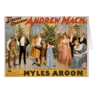 Myles Aroon, 'Andrew Mack', I'm Your's till Death Greeting Card