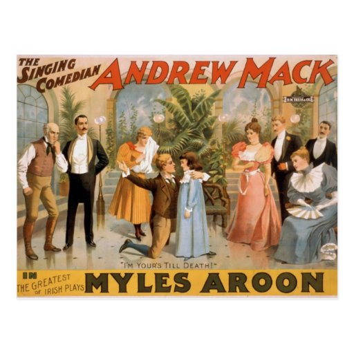 Myles Aroon, 'Andrew Mack', I'm Your's till Death Post Cards