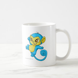 Mynci Blue Basic White Mug