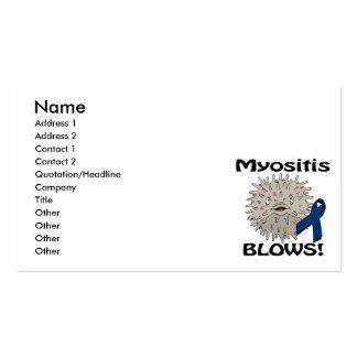 Myositis Blows Awareness Design Business Cards