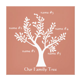 MyPoetTree - Family Tree Canvas Print