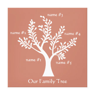 MyPoetTree - Family Tree Stretched Canvas Print