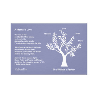 MyPoetTree, Family Tree with Poem for Mom Canvas Prints