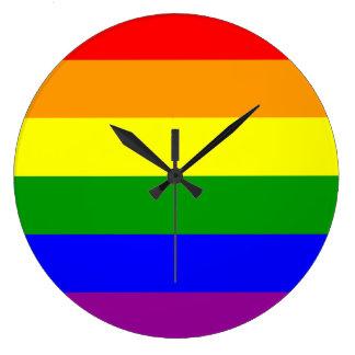 MyPride365 - BASICS - Pride Rainbow Clock - Large