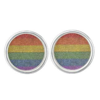 """MyPride365 - """"Rainbow Brick"""" Cufflinks"""